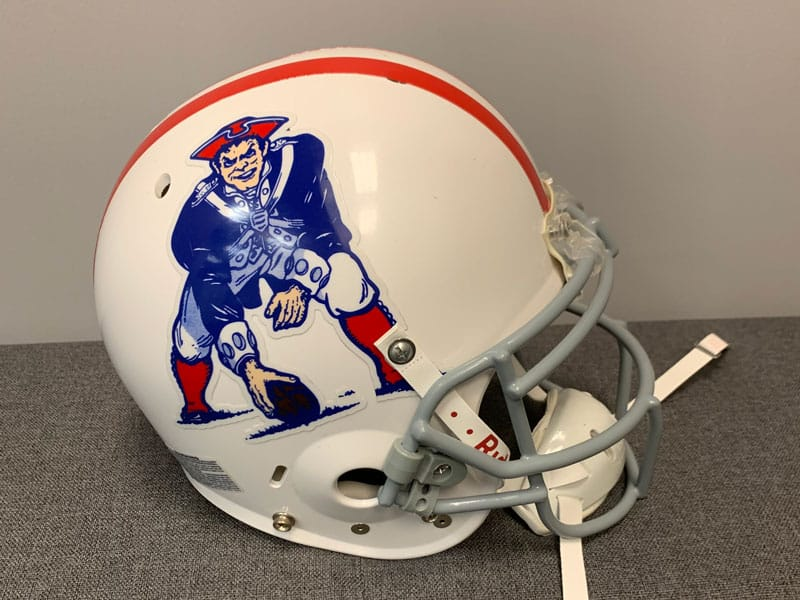 Shawn Springs' Helmet From The New England Patriots In 2009